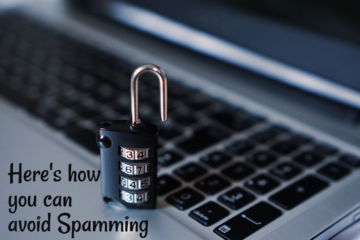 Online security tips to avoid spamming